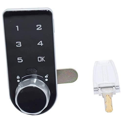 Briefkastenschloss Elektrisches Touch-Tastatur-Passwort-Code-Nummer-Schrank Schubladenschloss mit Schlüssel für Schrank Schublade Briefkasten Zugangskontrolle