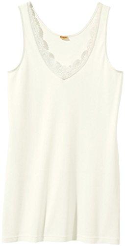 Jolinesse® Damen Unterhemd Feinripp, 100% Baumwolle ++ Plus Size ++ (Weiß, Gr. XL - 48/50)