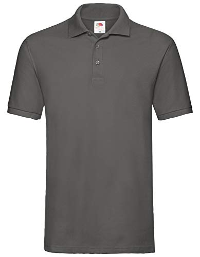 Fruit of the Loom Premium Polo Herren Polo-Shirt NEU, Größe:L, Farbe:Graphit