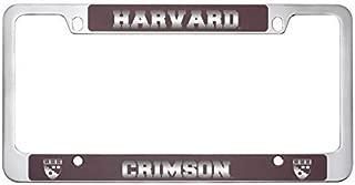 Harvard University -Metal License Plate Frame-Burgundy