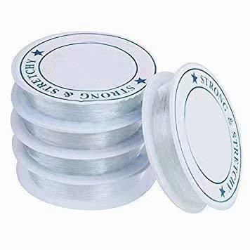 HANBIN 5pc des Herstellens der aufreihenden Halsketten-Armbänder Spule des Kristall- freien starken des Schnur-Draht-Schmucks dehnbaren elastischen bördelnden Fadens 0.8mm