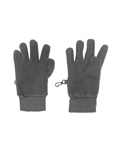 maximo Unisex Baby Fünffinger mit Jerseybündchen Handschuhe, Schwarz (Holzkohle 37), 2 (Herstellergröße: 2)