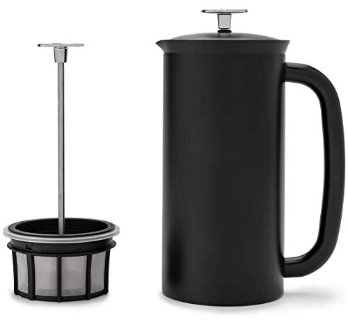 ESPRO P7 Double Walled Stainless Steel Vacuum Insulated Coffee French Press, 18 Ounce, Matte Black