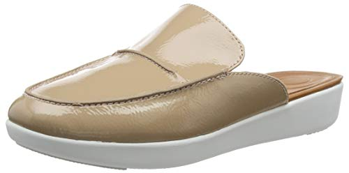 FitFlop Serene Crinkle Patent, Zuecos, Marrón Taupe 076, 36 EU