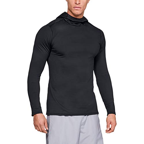 Under Armour, Fitted Coldgear Hoodie, Felpa, Uomo, Nero (Nero/Charcoal), M