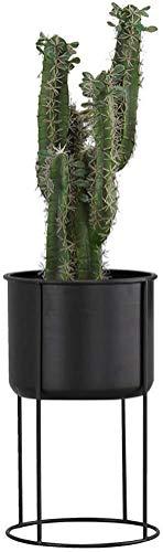 Goquik Plant Stand Voor Bloem Binnen Metalen Bloem Pot Beugel Badkamer Opslag Rack Eenvoudige Vloer Plant Frame, Geschikt Voor Binnen Balkon Tuin Decoratie, Hoge Temperatuur Bakproces, Sterke Mier