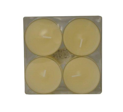 Wenzel-Kerzen 31-1530-4-04 Maxilicht, Creme, in Kunststoffhülle, Durchmesser ca. 54 mm, Brenndauer 7-8 h, Pack a 4 Stück