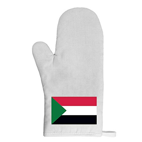 Mygoodprice Ofenhandschuh Topflappen Flagge Sudan