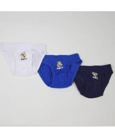 10XDIEZ Slips niño Real Madrid 655 Set 3 Unidades - Talla Slip niño - 4-6 años
