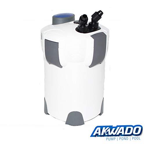 Akwado Aquarium buitenfilter 2000 l/h 4 niveaus met filtermateriaal