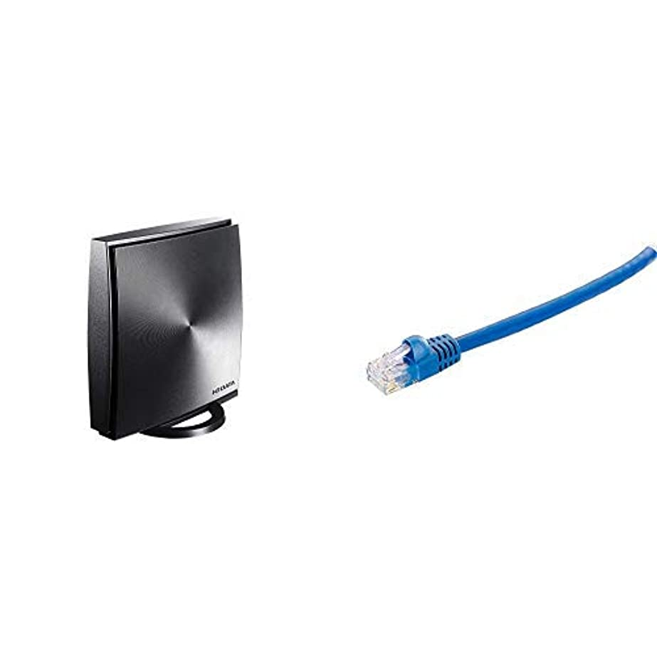 恐怖症成り立つリマークI-O DATA Wi-Fi 無線LAN ルーター 11ac 867+300Mbps 対応 3階建/4LDK WN-DX1167R/E + I-O DATA ツメの折れないLANケーブル やわらかいストレート 1m/10G対応/カテゴリ6/LC-10G/1M