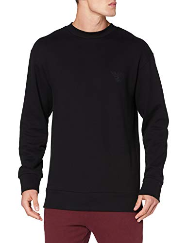 Emporio Armani Underwear Herren Loungewear Sweatshirt, Nero-Black, L