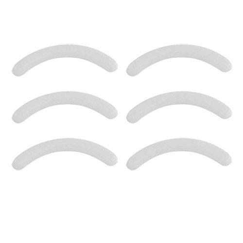 Leline's Eyelash Curler Refill Pads, Rubber Replacement Pads for Standard Eyelash Curler (White)