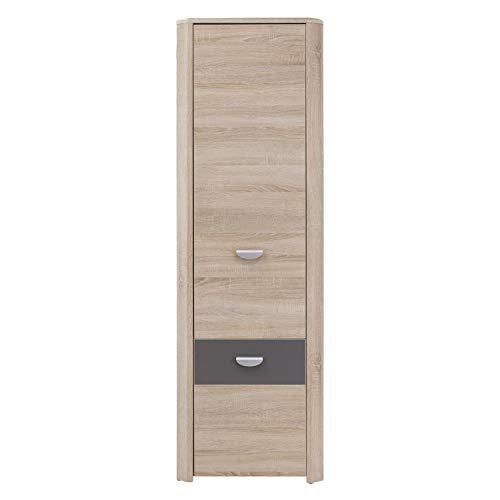 Furniture24 Schrank mit Regalen YOOP YPS71 Hochschrank Kleiderschrank 1 Türiger Jugendzimmerschrank