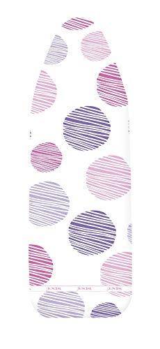Wenko Basic Pro M/L-Funda para Tabla de Planchar (Apta para Planchado al Vapor, Acolchado de Espuma), algodón, Multicolor, Talla Media/Grande