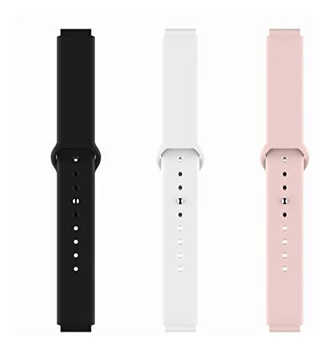 Pulseira de Silicone para Smart B57 Hero Band III - Cores disponíveis - Preto Branco e Rosa
