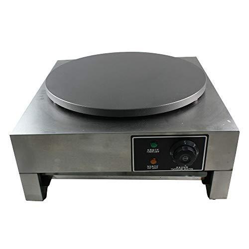 3KW Elektrische Crepes Maker Crepesgerät Crepeseisen Crepesplatte pfanne+ ausziehbarem Tablett φ400mm
