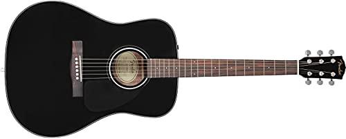 Fender CD-60 Dreadnaught Acoustic Guitar (V3) - With Case - Black - Walnut Fingerboard