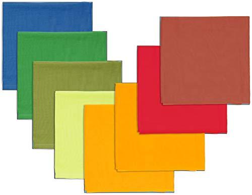 Bio Spieltücher 100% Bio-Baumwolle (kbA) GOTS zertifiziert, Bunt, 50 x 50 cm, 8er-Set