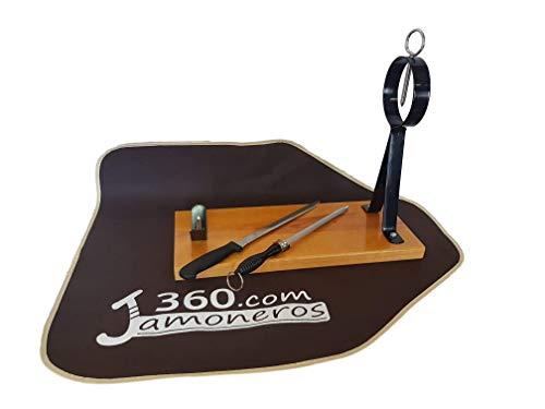 Dreamstone Supporto per prosciutto modello Arco + coltello e chaira - Offerta con copriprosciutto in regalo.
