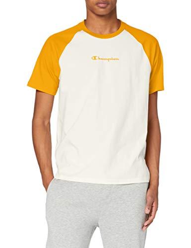 Champion Men's Seasonal Raglan T-Shirt, Giallo (Ww005), S Uomo