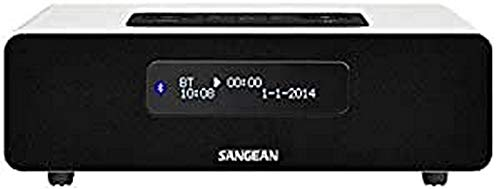 Sangean DDR-36 DAB+ Digitalradio (DAB+/UKW-Tuner, Bluetooth, Weckfunktion, Sleep-Timer, AUX-In) inkl. Fernbedienung weiß