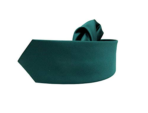 MMUGA Corbata Slim Skinny para hombre con pañuelo de bolsillo Uni Verde esmeralda Talla única