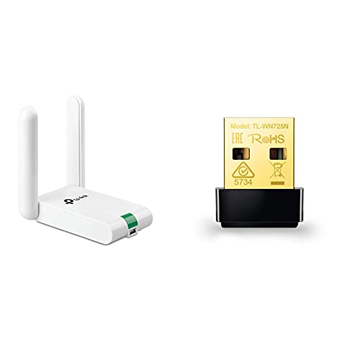 TP-Link Adaptador WiFi USB Inalámbrico Compatible con Raspberry Pi + Tl-Wn725N Adaptador WiFi USB Inalámbrico Nano, Compatible con Raspberry Pi