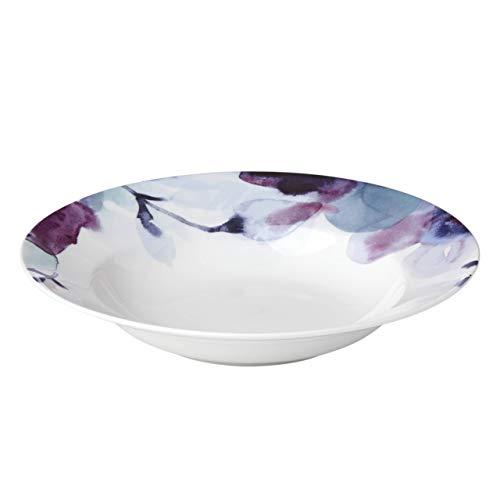 Lenox Indigo Watercolor Floral Rimmed Bowl, 0.95 LB, Blue