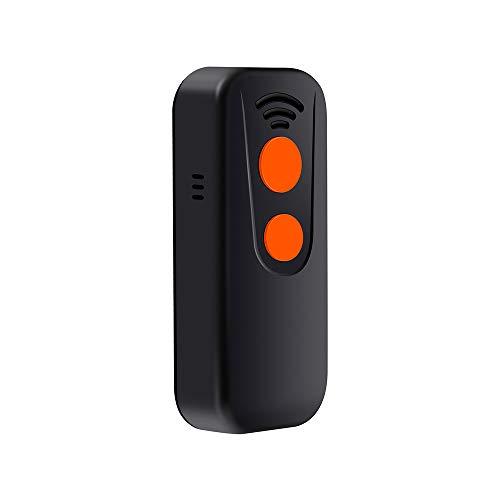 Aibecy Escáner de código de barras de mano 3 en 1 Lector de código de barras 1D Soporte BT y 2.4G Conexión inalámbrica y USB con cable con luz indicadora Pantalla de lectura de códigos