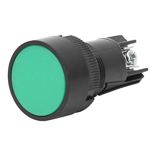 Botón de timbre de puerta Interruptor de plástico Interruptor de reinicio Verde, rojo para tornillo con arandela DIN para destornillador estándar IEC No. 2(Green EA131)