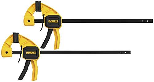 DEWALT Bar Clamp with Trigger, Medium, 12-Inch, 2-Pack (DWHT83158)