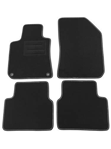 ASC Alfombrillas de coche para P. 308 Station Wagon II Serie desde 2014 – 2019 alfombras de moqueta con botones y talonera