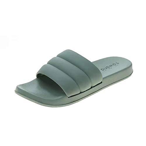 TDYSDYN Antideslizantes Playa Piscina Ducha Sandalias,Zapatillas de baño de Hombre de Suela Blanda, Sandalias de Suela Gruesa para el hogar-Azul_40-41