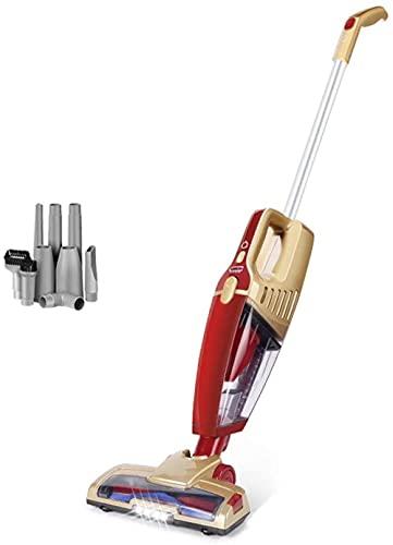 JTN Aspirador inalámbrico 2 en 1 Handheld Stick Aspirador con batería recargable de iones de litio y cepillo LED Stick Aspirador de mano para alfombra coche mascotas pelo B-A