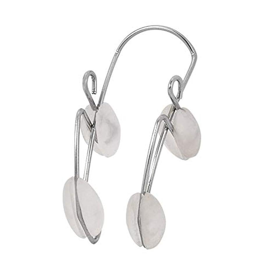 空蘇生する個人的なノーズアップクリップリフティングシェイピングシェイパークリップビューティノーズマッサージ矯正クリップツールコレクターブリッジノーズハイライトデバイス(Color:Silver & white)