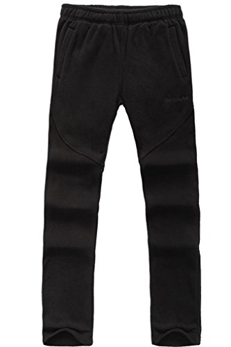 Micosuza Fleece Hose Herren Funktions Outdoor Sport Wärmend Fleece Freizeithose