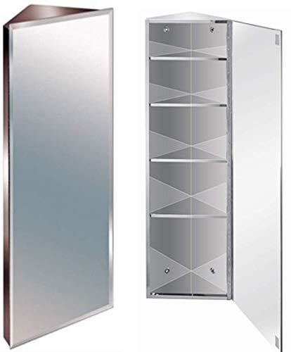 Generic Eck-Eckschrank 1200 mm Edelstahl 1200 mm abgeschrägte Kanten Badezimmer Co Spiegel Badezimmer ohne Stahl wendbar