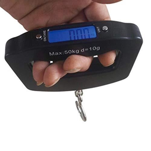 Bagage Schaal Draagbare Handheld Reisbagage Elektronische Schaal, Digitale LCD Hangende Koffer Weegschaal 110 lb / 50 kg Blauwe Backlight voor Vissen