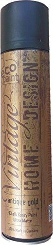 Vintage Kreide Spray antique gold 400ml Kreidefarbe Chalk Paint Shabby Chic Landhaus Stil Vintage Look