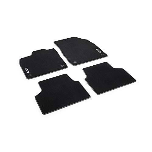 Volkswagen 10B061270WGK Fußmatten Premium Textilfußmatten 4X Stoffmatten schwarz, mit ID.3 Schriftzug