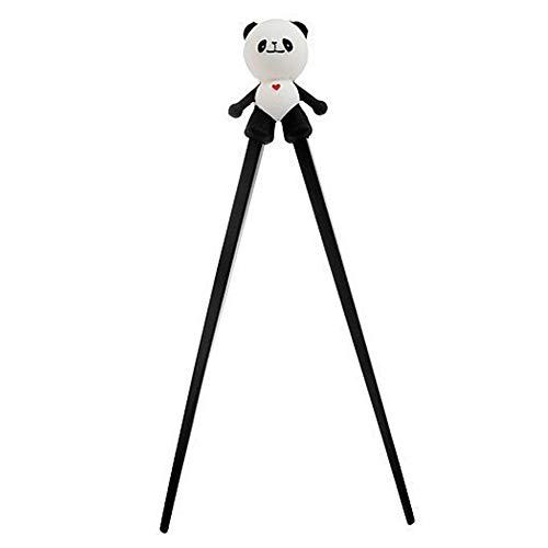 JER Chic Panda 1 Paire Chopsticks Chopsticks Cute Plastique avec Silicone Guide de Formation Aids Connecteur pour Enfants bébé Produits pour Maison/Cuisine