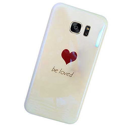 MoreChioce Coque Galaxy S7 Edge,Compatible avec Coque Samsung Galaxy S7 Edge Strass,Fantaisie Blu-Ray Bling Brillant Glitter TPU Silicone Bumper Transparent Paillette Flexible Gel Souple Case