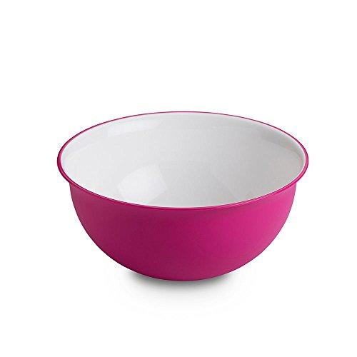 Ensaladera Omada Design 2 litros, medidas: 20 x h 9 cm blanco por dentro, coloreado por fuera, en plástico y antibacteriano Microban, apto para MICROONDAS e irrompible, para cocina, línea Sanaliving