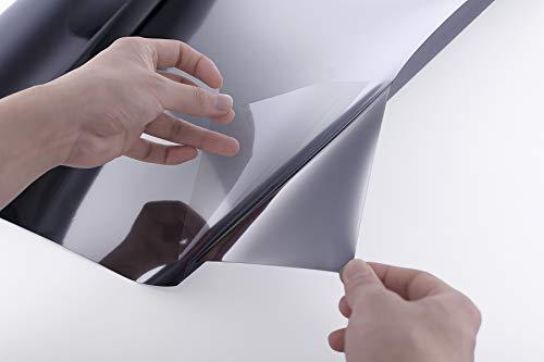 Essort Film Miroir pour Fenêtre - Film Électrostatique Vitre Anti UV Auto Adhésif Film Solaire...