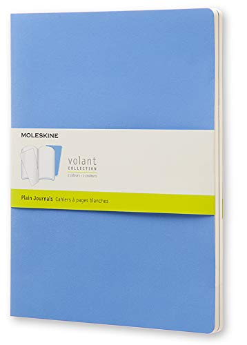 Moleskine QP733B12B11 - Cuaderno liso, XL 19 x 25, color azul
