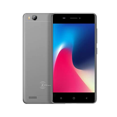 Barato Dual Sim Gratis Teléfonos móviles desbloqueados, 3G Android Smartphone, Kin Xin Da V5, 4 pulgadas Mini teléfono, Quad Core 1 g / 8 g GPS WIFI Teléfono celular (gris)