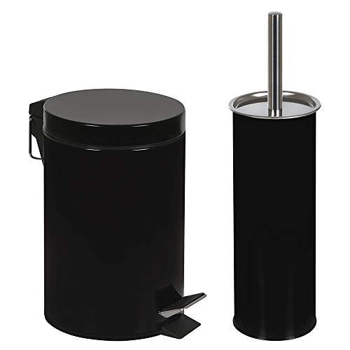 Conjunto Ágata Lixeira 3 Litros E Escova Para Higienização De Vaso Sanitário Pre Mor