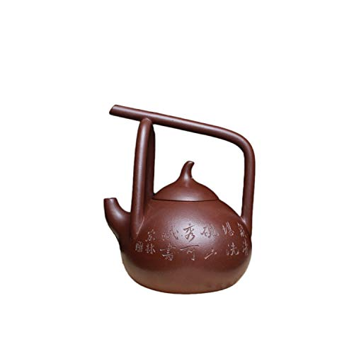 YYFUS Yixing Teapot Handmade Pottery Carved Beam Lifting East Slope Teapot Tea Maker Sand Pot (Color : Purple)