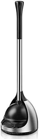 Homemaxs Toilet Plunger with Holder 2021 Newest Plungers for Bathroom Heavy Duty 304 Stainless product image